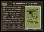 1969 Topps #203  Jim Whalen  Back Thumbnail