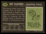 1969 Topps #241  Mike Taliaferro  Back Thumbnail