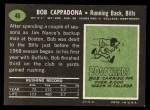 1969 Topps #40  Bob Cappadona  Back Thumbnail
