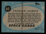 1957 Topps Space Cards #65   Chasing Comets  Back Thumbnail