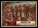 1962 Topps Civil War News #39   General Lee Front Thumbnail