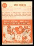 1963 Topps #53  Jack Stroud  Back Thumbnail