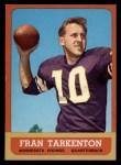 1963 Topps #98  Fran Tarkenton  Front Thumbnail