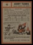 1962 Topps #45  Jerry Tubbs  Back Thumbnail