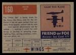 1952 Topps Wings #160   Hiller 360 Back Thumbnail