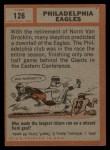 1962 Topps #126   Eagles Team Back Thumbnail