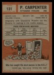 1962 Topps #131  Preston Carpenter  Back Thumbnail