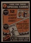 1972 Topps #40   -  Bob Barton In Action Back Thumbnail