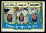 1972 Topps #88   -  Harmon Killebrew / Frank Robinson / Reggie Smith AL RBI Leaders   Front Thumbnail