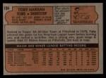 1972 Topps #104  Toby Harrah  Back Thumbnail
