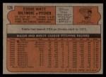 1972 Topps #128  Eddie Watt  Back Thumbnail