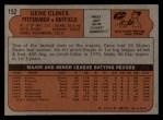 1972 Topps #152  Gene Clines  Back Thumbnail