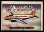 1952 Topps Wings #170   D.H. 104 Dove Light Transport Front Thumbnail