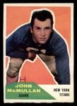 1960 Fleer #103  John McMullan  Front Thumbnail