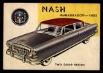 1954 Topps World on Wheels #88   Nash Ambassador 1953 Front Thumbnail