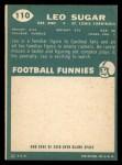 1960 Topps #110  Leo Sugar  Back Thumbnail