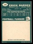 1960 Topps #19  Erich Barnes  Back Thumbnail