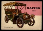 1954 Topps World on Wheels #104   Napier Touring Car 1904 Front Thumbnail