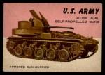 1954 Topps World on Wheels #62   40-mm M2 Dual Self-Propelled Guns Front Thumbnail