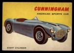 1954 Topps World on Wheels #54   Cunningham Front Thumbnail