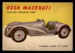 1954 Topps World on Wheels #15   Osca Maserati Front Thumbnail