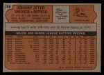 1972 Topps #288  Johnny Jeter  Back Thumbnail