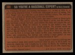 1972 Topps #308   -  Steve Renko In Action Back Thumbnail