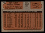 1972 Topps #405  Ron Fairly  Back Thumbnail