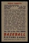 1951 Bowman #257  Birdie Tebbetts  Back Thumbnail