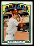 1972 Topps #466  Norm Miller  Front Thumbnail