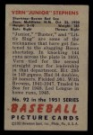 1951 Bowman #92  Junior Stephens  Back Thumbnail