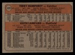 1972 Topps #489   -  Terry Humphrey / Keith Lampard Expos Rookies   Back Thumbnail