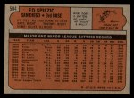 1972 Topps #504  Ed Spiezio  Back Thumbnail