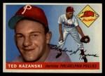 1955 Topps #46  Ted Kazanski  Front Thumbnail