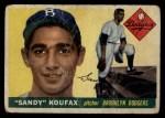 1955 Topps #123  Sandy Koufax  Front Thumbnail