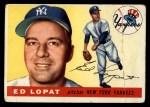 1955 Topps #109  Eddie Lopat  Front Thumbnail