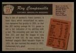 1955 Bowman #22  Roy Campanella  Back Thumbnail
