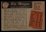1955 Bowman #81  Bob Morgan  Back Thumbnail