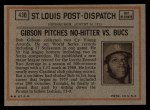 1972 Topps #430   -  Bob Robertson In Action Back Thumbnail