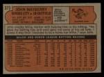 1972 Topps #373  John Mayberry  Back Thumbnail