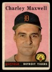 1958 Topps #380  Charley Maxwell  Front Thumbnail