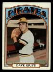 1972 Topps #190  Dave Giusti  Front Thumbnail