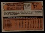 1972 Topps #60  Manny Sanguillen  Back Thumbnail