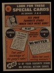 1972 Topps #32   -  Cleon Jones In Action Back Thumbnail
