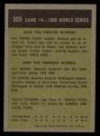 1961 Topps #309   -  Gino Cimoli 1960 World Series - Game #4 - Cimoli Safe in Critical Play Back Thumbnail