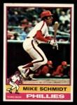 1976 Topps #480  Mike Schmidt  Front Thumbnail