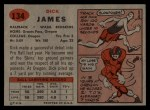 1957 Topps #134  Dick James  Back Thumbnail