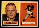 1957 Topps #117  Don Bingham  Front Thumbnail