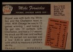 1955 Bowman #266  Mike Fornieles  Back Thumbnail