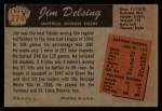 1955 Bowman #274  Jim Delsing  Back Thumbnail